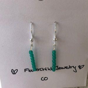 Handmade ❤️ Dainty Teal Earrings